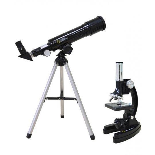 Набор Bresser National Geographic: телескоп 50/360 AZ и микроскоп 300x-1200x модель 67545 от Bresser