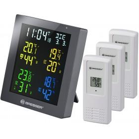 Гигрометр Bresser ClimaTemp Hygro Quadro с тремя датчиками, серый модель 77138 от Bresser