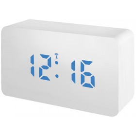 Часы Bresser MyTime W Color LED Blue, белые модель 77161 от Bresser