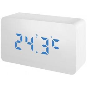 Часы Bresser MyTime W Color LED Blue, белые