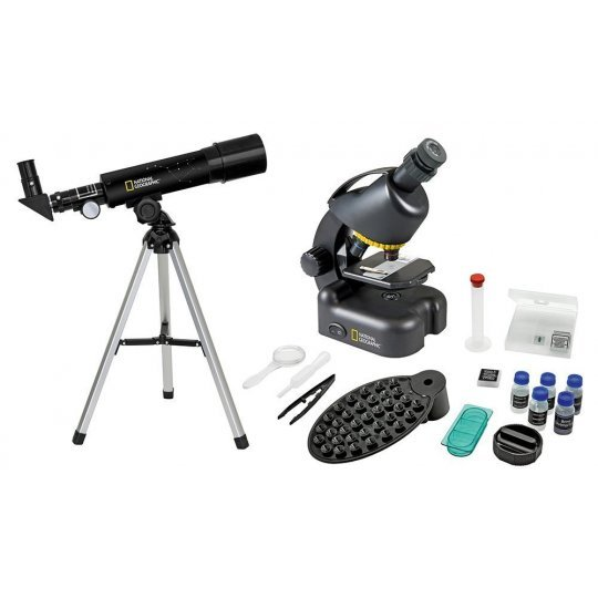 Набор Bresser National Geographic: телескоп 50/360 AZ и микроскоп 40–640x модель 73384 от Bresser