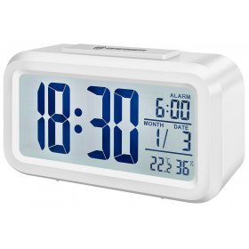 Часы настольные Bresser MyTime Duo LCD, белые модель 74602 от Bresser