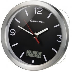 Часы Bresser MyTime Bath RC, водонепроницаемые, черные модель 74611 от Bresser