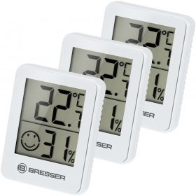 Гигрометр и термометр Bresser Temeo Hygro, набор 3 шт., белый модель 74644 от Bresser