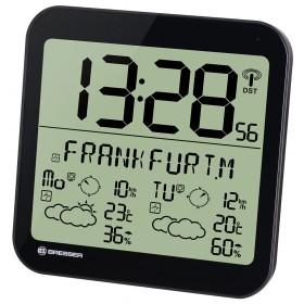 Часы настенные Bresser MyTime Meteotime LCD, черные
