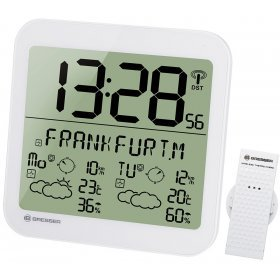 Часы настенные Bresser MyTime Meteotime LCD, белые модель 74649 от Bresser