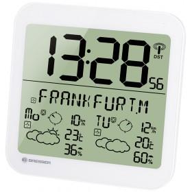 Часы настенные Bresser MyTime Meteotime LCD, белые