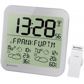 Часы настенные Bresser MyTime Meteotime LCD, серебристые модель 74650 от Bresser