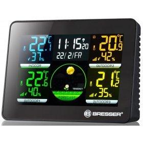 Метеостанция Bresser Thermo Hygro Quadro NLX с тремя датчиками