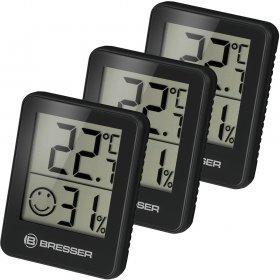 Гигрометр и термометр Bresser Temeo Hygro, набор 3 шт., черный модель 75688 от Bresser