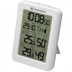 Гигрометр с часами Bresser MyClimate, белый