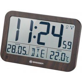 Часы настенные/настольные Bresser MyTime MC LCD в корпусе под дерево модель 75695 от Bresser