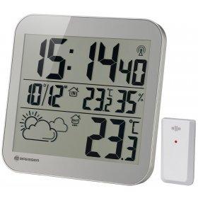 Часы настенные Bresser MyTime LCD, серебристые модель 75697 от Bresser