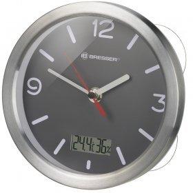 Часы Bresser MyTime Thermo/Hygro Bath, водонепроницаемые, серые модель 75729 от Bresser