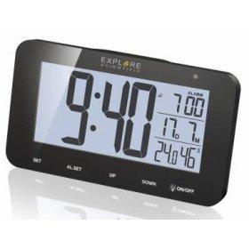 Часы цифровые Explore Scientific с будильником, черные модель 75891 от Explore Scientific