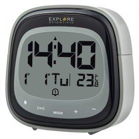 Часы цифровые Explore Scientific Dual с будильником, черные модель 75896 от Explore Scientific