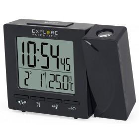 Часы цифровые Explore Scientific с проектором и термометром, черные