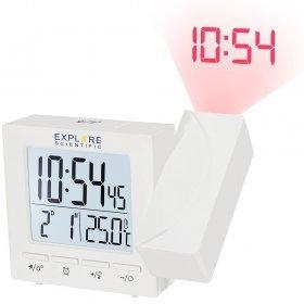 Часы цифровые Explore Scientific с проектором и термометром, белые модель 75898 от Explore Scientific