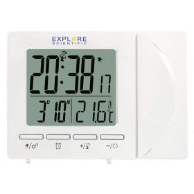 Часы цифровые Explore Scientific с проектором и термометром, белые