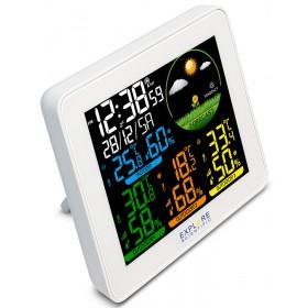 Метеостанция Explore Scientific с цветным экраном и тремя датчиками, белая