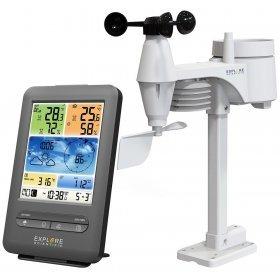Метеостанция Explore Scientific «5 в 1» Wi-Fi с цветным дисплеем, черная модель 75912 от Explore Scientific