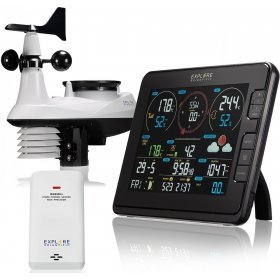 Метеостанция Explore Scientific «7 в 1» Wi-Fi, профессиональная, черная модель 75913 от Explore Scientific