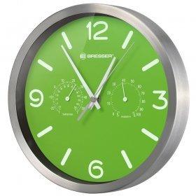 Часы настенные Bresser MyTime ND DCF Thermo/Hygro, 25 см, зеленые модель 76439 от Bresser