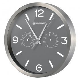 Часы настенные Bresser MyTime ND DCF Thermo/Hygro, 25 см, серые модель 76443 от Bresser