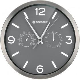 Часы настенные Bresser MyTime ND DCF Thermo/Hygro, 25 см, серые