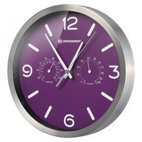 Часы настенные Bresser MyTime ND DCF Thermo/Hygro, 25 см, фиолетовые модель 76445 от Bresser