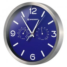 Часы настенные Bresser MyTime ND DCF Thermo/Hygro, 25 см, синие модель 76446 от Bresser