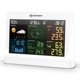 Метеостанция Bresser Comfort «5 в 1» с цветным дисплеем, белая