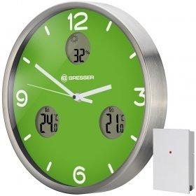 Часы настенные Bresser MyTime io NX Thermo/Hygro, 30 см, зеленые модель 76461 от Bresser