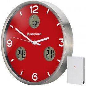 Часы настенные Bresser MyTime io NX Thermo/Hygro, 30 см, красные модель 76462 от Bresser