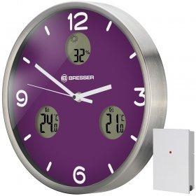 Часы настенные Bresser MyTime io NX Thermo/Hygro, 30 см, фиолетовые модель 76464 от Bresser