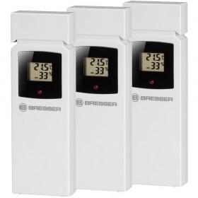 Метеостанция Bresser ClimaTemp Hygro Quadro с тремя датчиками, черная