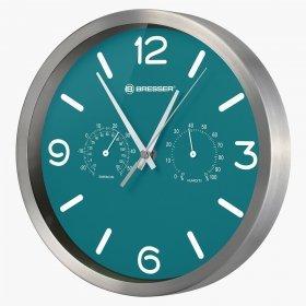 Часы настенные Bresser MyTime ND DCF Thermo/Hygro, 25 см, бирюзовые модель 77158 от Bresser