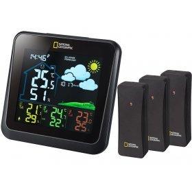 Метеостанция Bresser National Geographic VA с цветным дисплеем и тремя черными датчиками модель 77409 от Bresser