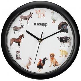 Часы настенные Bresser Junior, 25 см, с животными модель 75315 от Bresser