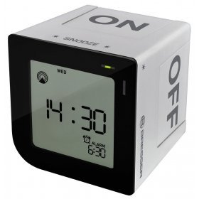 Часы настольные Bresser FlipMe Alarm Clock, серебристые модель 73788 от Bresser