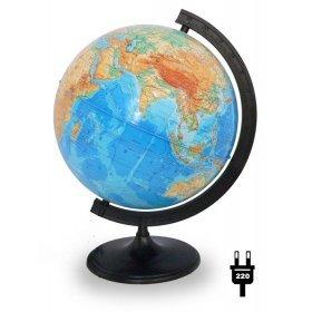 Глобус физический диаметром 320 мм, с подсветкой модель 33608 от