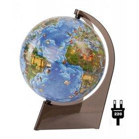 Глобус Земли для детей, с подсветкой, диаметр 210 мм модель 67890 от