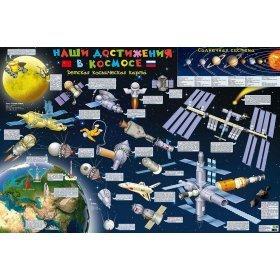 Карта детская «Наши достижения в космосе», настенная модель 71331 от