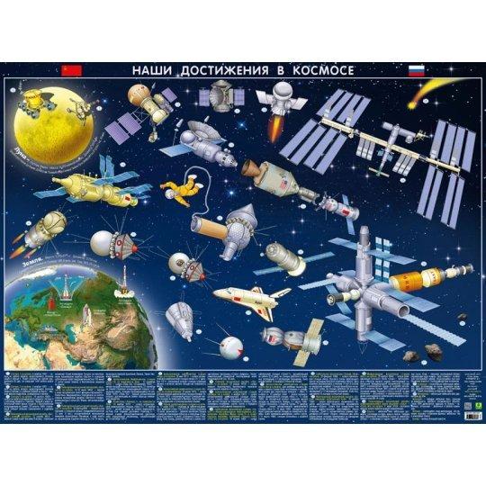 Карта детская «Наши достижения в космосе», настольная модель 71330 от