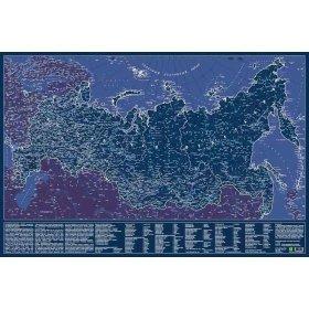 Карта Российской Федерации, светящаяся в темноте, настенная, сувенирное издание модель 72299 от