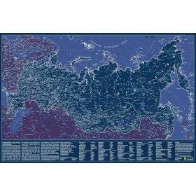 Карта Российской Федерации, светящаяся в темноте, настенная, сувенирное издание, в тубусе модель 72300 от