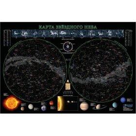 Карта звездного неба, 68x102 см (ламинированная) модель 70275 от