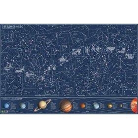 Карта звездного неба, светящаяся в темноте, настенная модель 72052 от