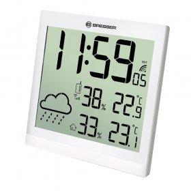 Метеостанция (настенные часы) Bresser TemeoTrend JC LCD с радиоуправлением, белая модель 73268 от Bresser